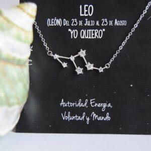 Colgante de Plata Constelación Leo