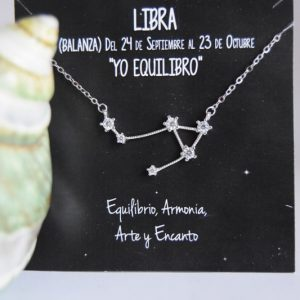 Colgante de Plata Constelación Libra