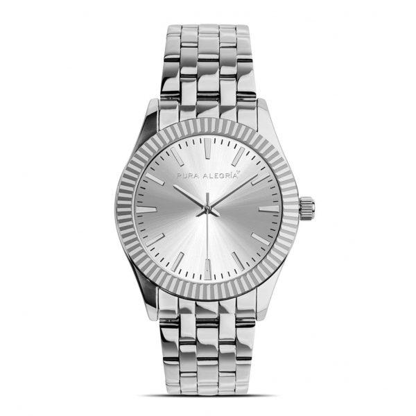 Reloj Mujer Pura Alegría Esfera Plata