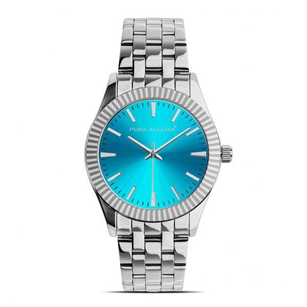 Reloj Mujer Pura Alegría Esfera Turquesa