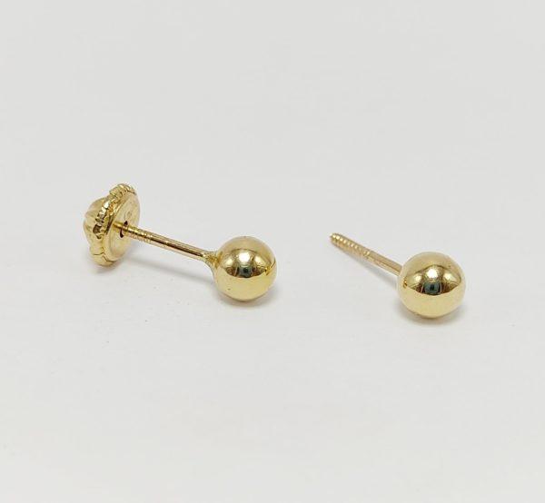 Pendientes Oro Amarillo Bola 4 mm