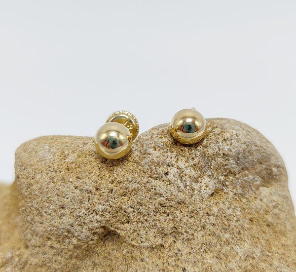 Pendientes Oro Amarillo Bola 5 mm