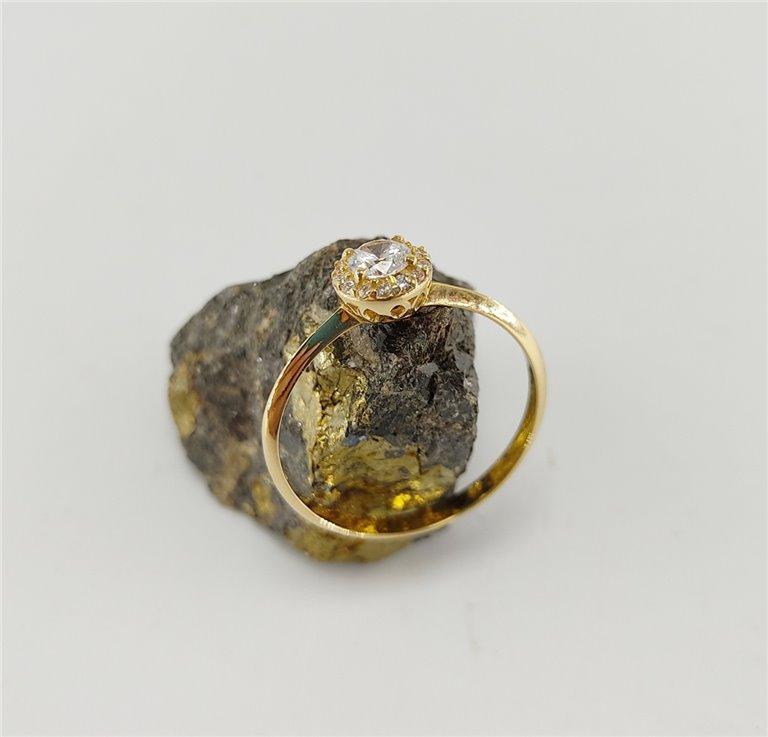 Anillo Oro Amarillo Roseta