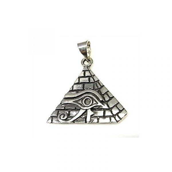 Colgante de Plata Ojo de Horus en Pirámide