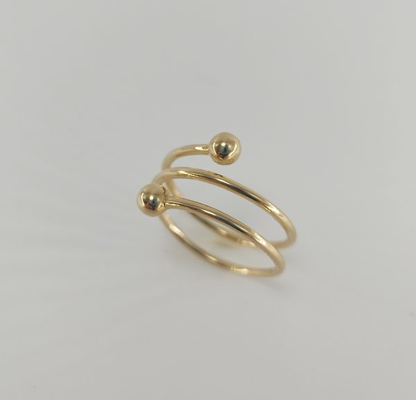 Anillo Oro Amarillo Espiral