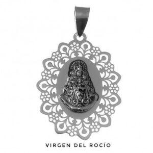 Medalla Plata Virgen del Rocío Calada