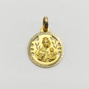 Medalla de Oro Amarillo Virgen del Carmen