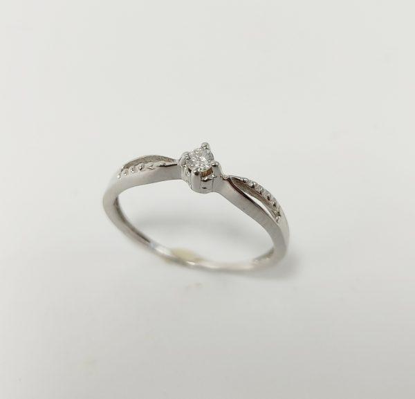 Anillo de Compromiso Oro Blanco y Diamante