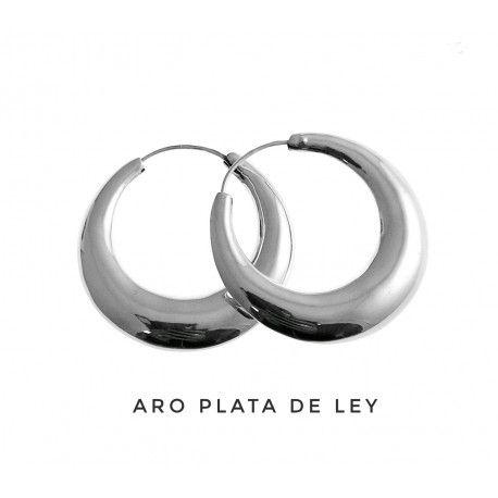 Argolla Plata Liso Anchas