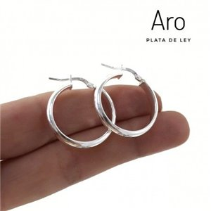 Argollas Plata LIso 25 mm