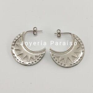 Pendientes de Plata con diseño Inca