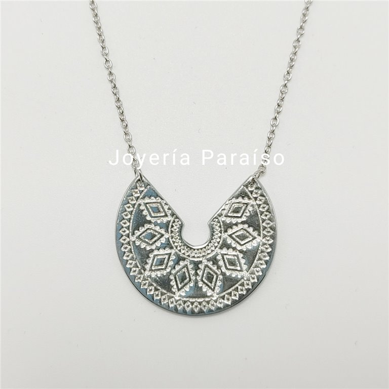 Conjunto Gargantilla Plata Maya