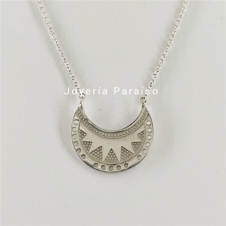 Gargantilla Plata con diseño Inca