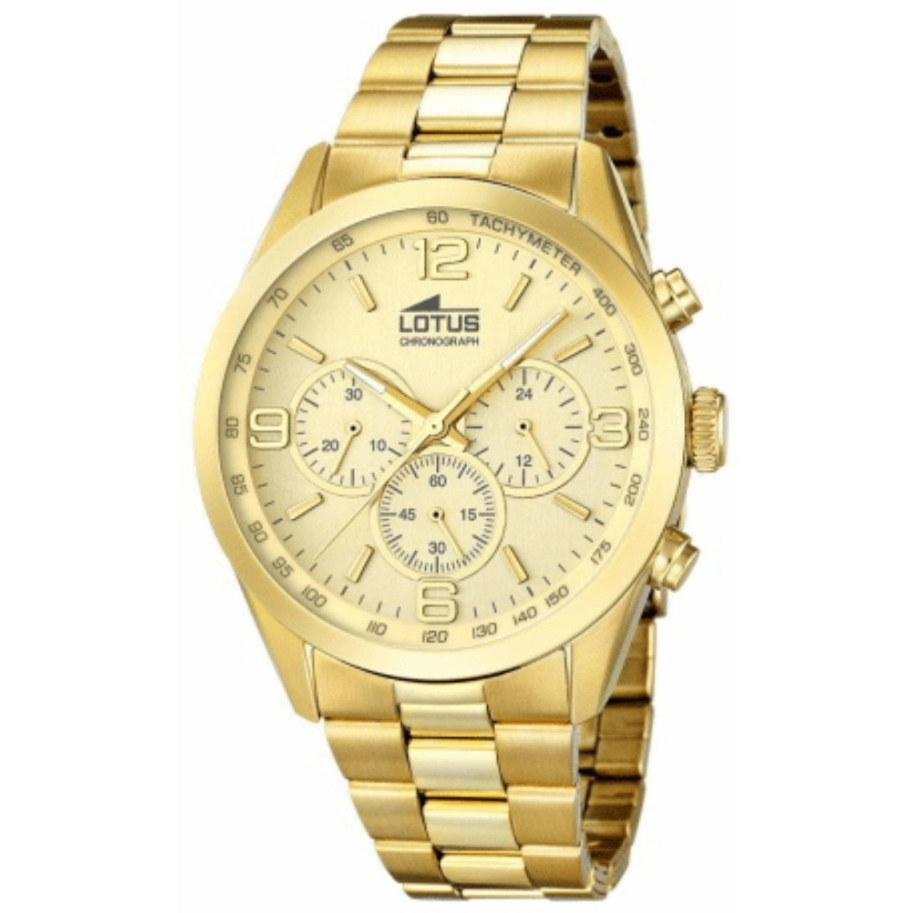 Reloj Lotus Crono Hombre Chapado