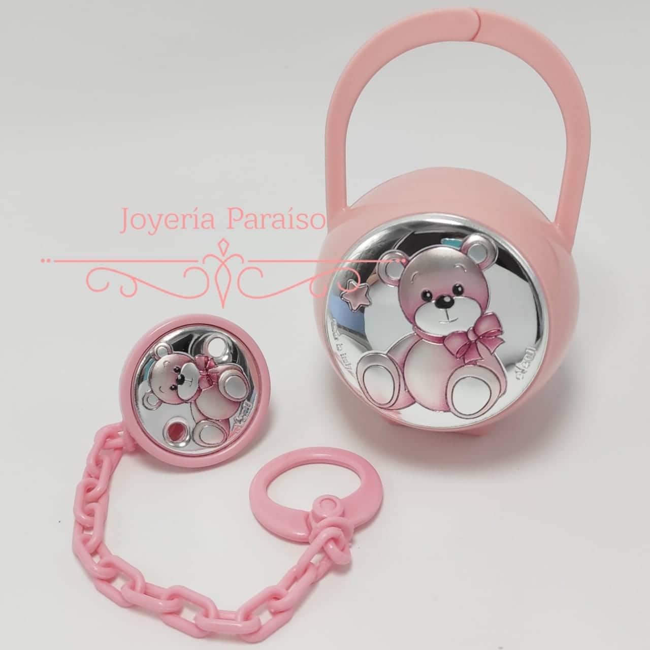 Pinza y Portachupete Rosa